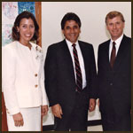 Vice President and Mrs. Quayle with    Ron Cedillos